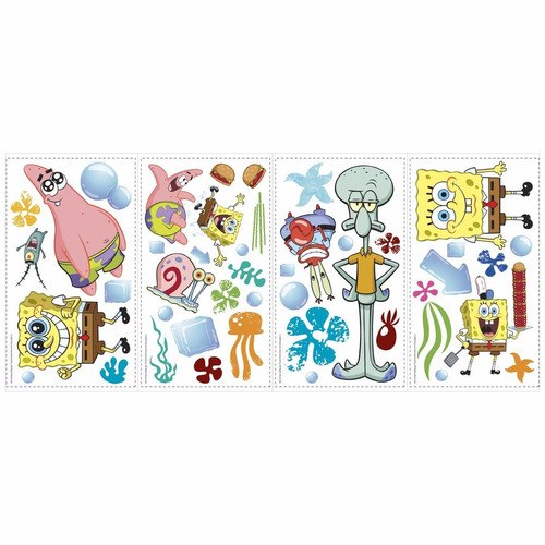 nickelodeon bob esponja sticker calcomanias