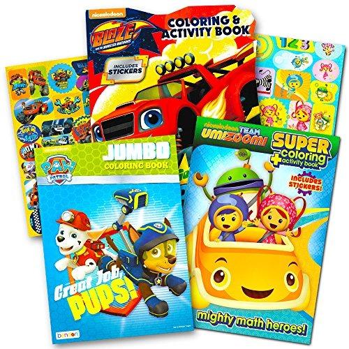 Nickelodeon Jr Coloring Libro Super Set 3 Libros Colorear Co ...