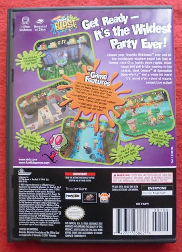 nickelodeon party blast - gamecube perfecto estado