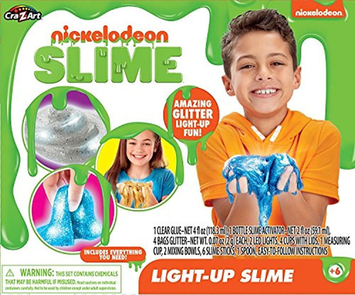 nickleodeon light up slime kits de manualidades
