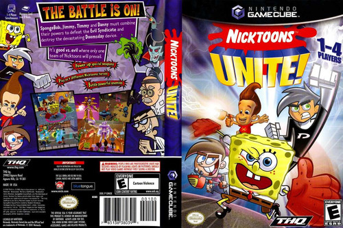 nicktoons unite ! / gamecube gc / compatible wi 10