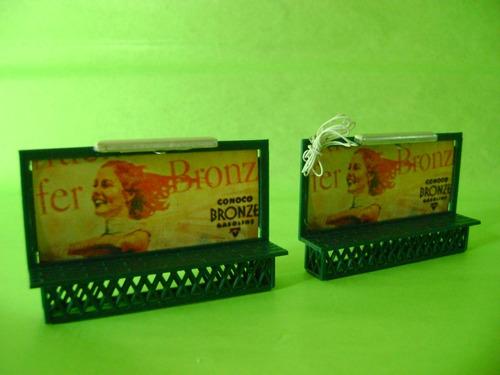 nico 2 carteles con marquesina y luz h0 bachmann (edh 103)