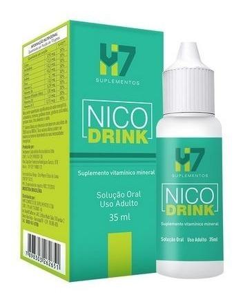 nico drink -  anti-alcoolismo - hm7 suplementos oficial