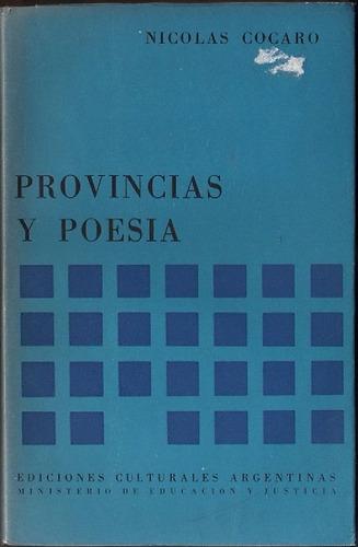 nicolás cócaro : provincias y poesía