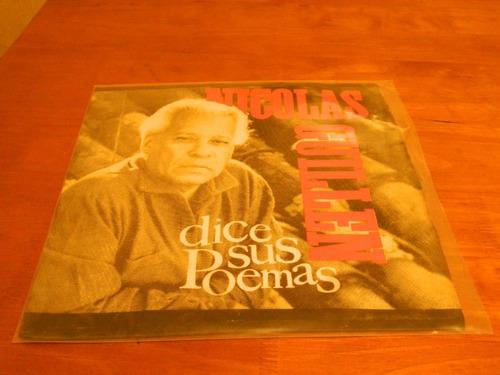 nicolas guillen dice sus poemas en disco de vinilo