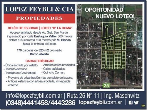 nicolás paladino 700 - escobar - terrenos/fracciones/loteos loteos - venta