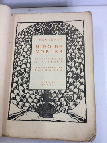 nido de nobles, iván turguenef