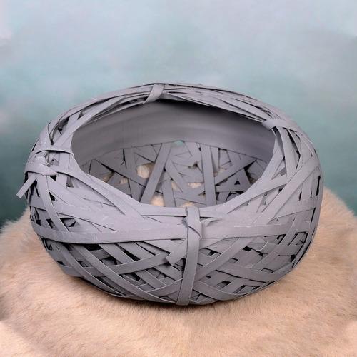 nido gris grande 26x10 cm decoracion hogar
