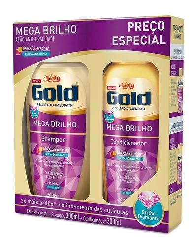 niely gold kit shampoo + condicionador mega brilho