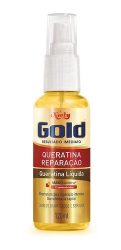 niely gold queratina líquida queratina reparação