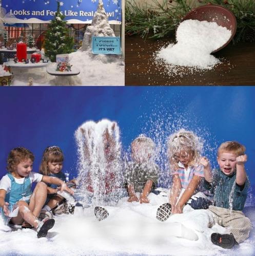 nieve artificial instantanea, 1 kg para decorar todo el año