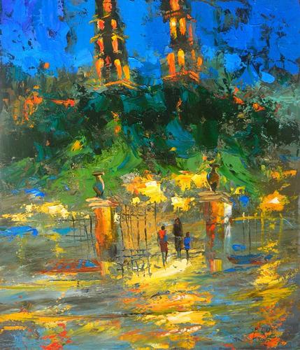 night merida - cuadros, pinturas al oleo de dmitry spiros