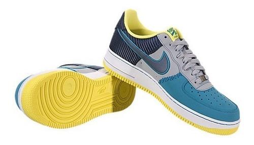 nike af1 azul naval gris y amarillo 8us 6 mx mod. 488298-039