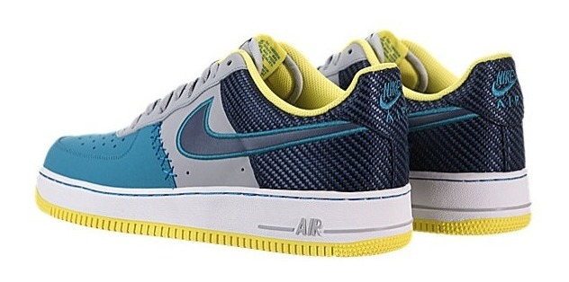 chaussures de séparation b8c82 204fe Nike Af1 Azul Naval Gris Y Amarillo 8us 6 Mx Mod. 488298-039