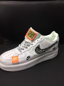 nike air force 1 just do it negras