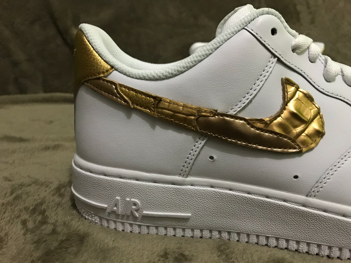 nike air force 1 low cr7 golden patchwork. Carregando zoom. f67248762