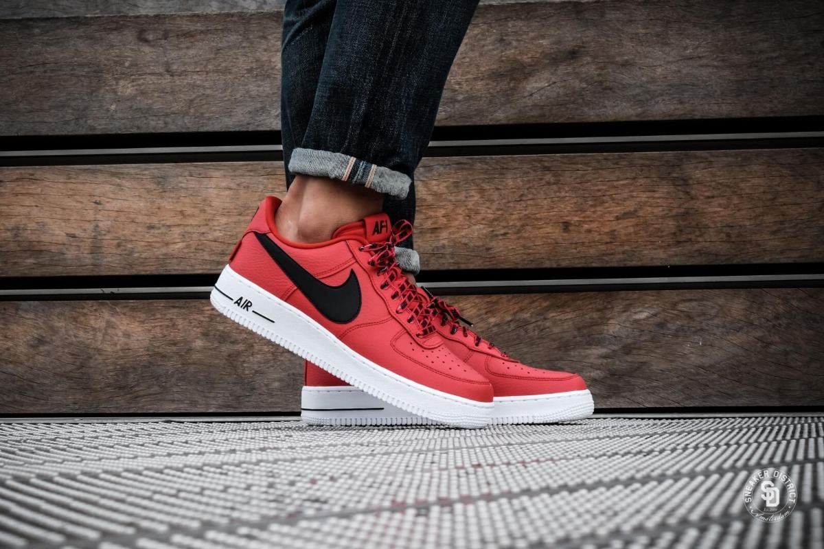 ... c49c7 8575e nike air force 1 low nba pack university red black.  Cargando zoom. 141e87fab