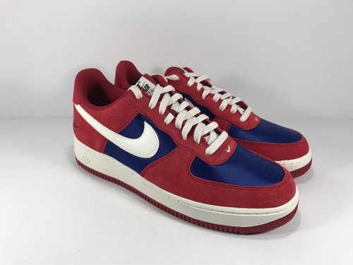 nike air force 1 low / suede red white blue / 10 us