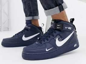 nouveau style d5c00 00461 Nike Air Force 1 Mid 07 Lv8 Utility Bleu Marine Et Blanche