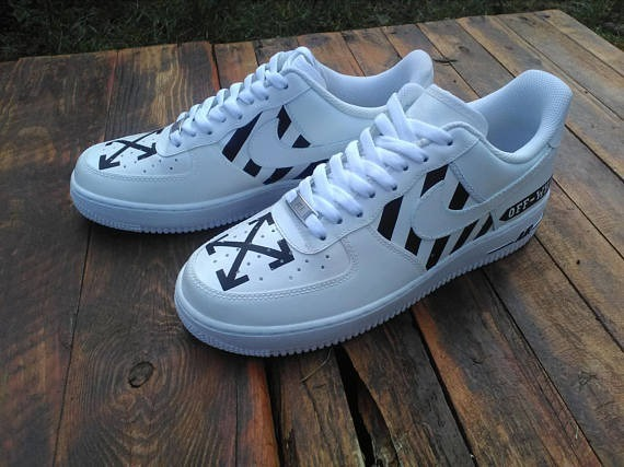 hot sale online 7c835 32bd1 nike air force 1 x off white custom made