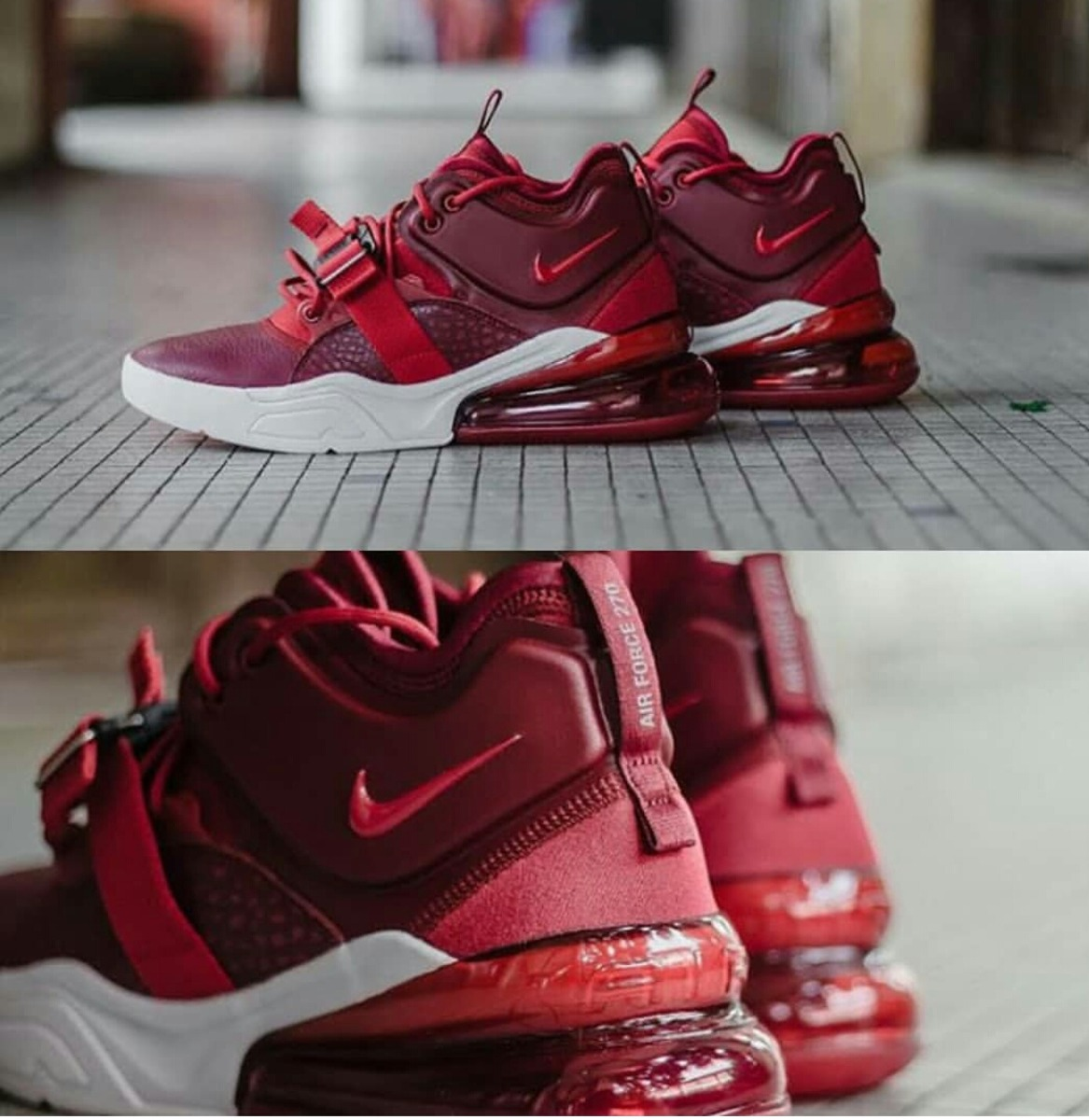 Nike Air Force 270 Red Hombre