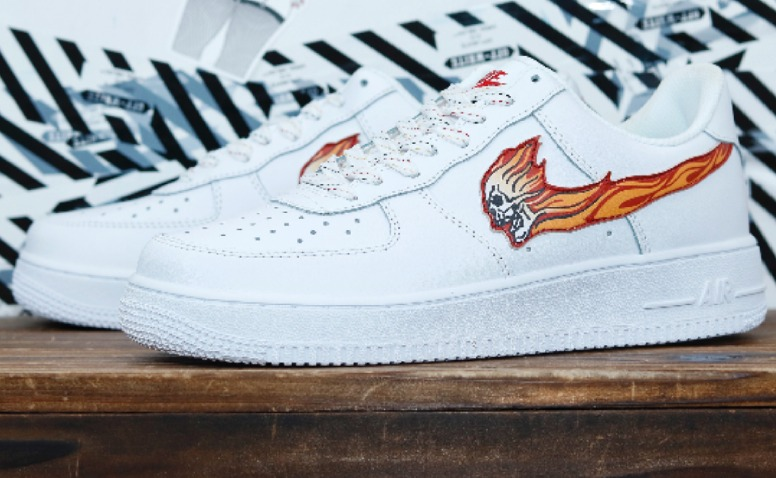 best service ba92f e7def ... promo code for nike air force one blanca exclusivas calavera y fuego 35  43 d5bd1 be7f5