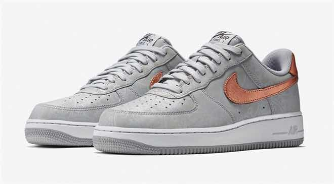meet 5a9ee e9513 nike air force one suela blanca gris dorado hombre ingresan