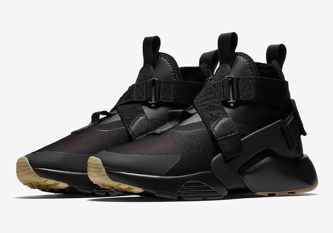 best sneakers 07312 89639 Nike Air Huarache City Black Gum Mujer 2018 Vuelta Town