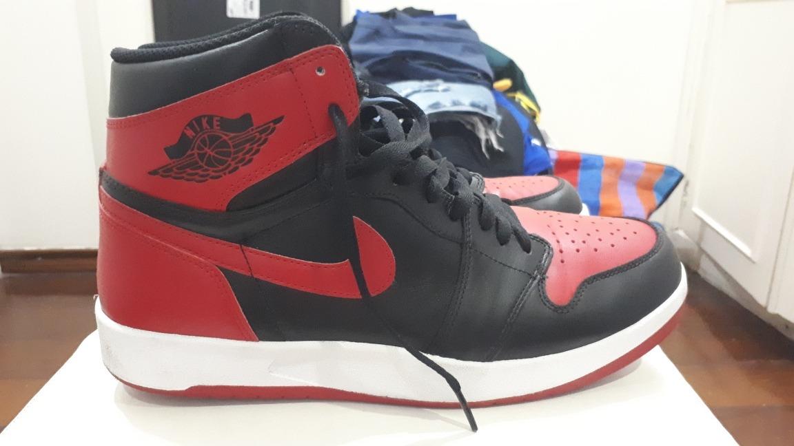 separation shoes 889d3 a1d1b Nike Air Jordan 1 Bred 2013 Muito Novo Us 10.5 43