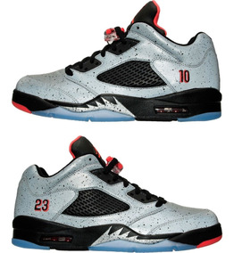 quite nice 4a4f3 30a1c Nike Air Jordan 5 Low Neymar Retro V Silver Tamaño 13 8463