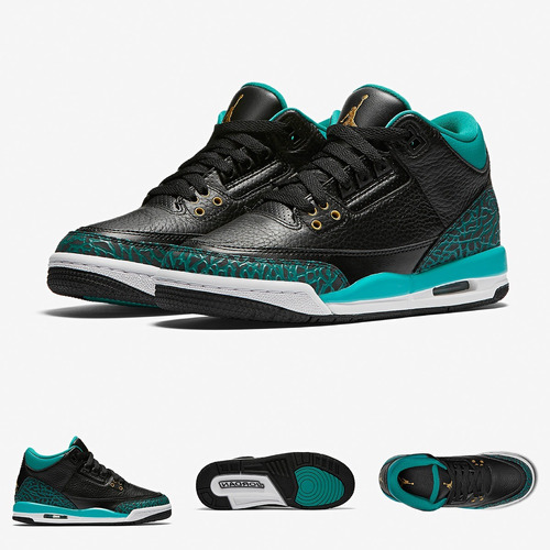 nike air jordan retro 3 | flight hombre negro originales