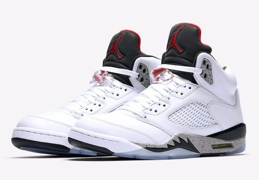 new style 06bbe 80578 Nike Air Jordan Retro 5 White Cement
