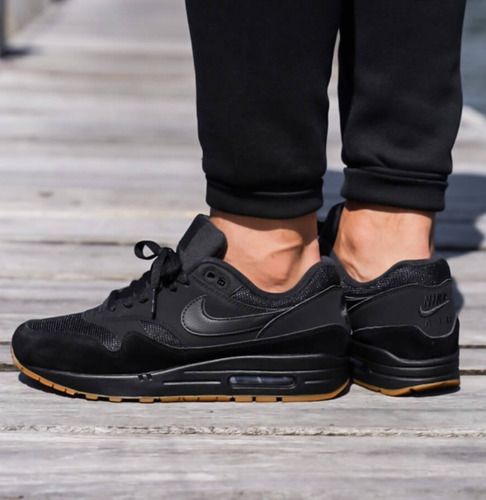 Nike Air Max 1 Premium Black Gum Medium Brown