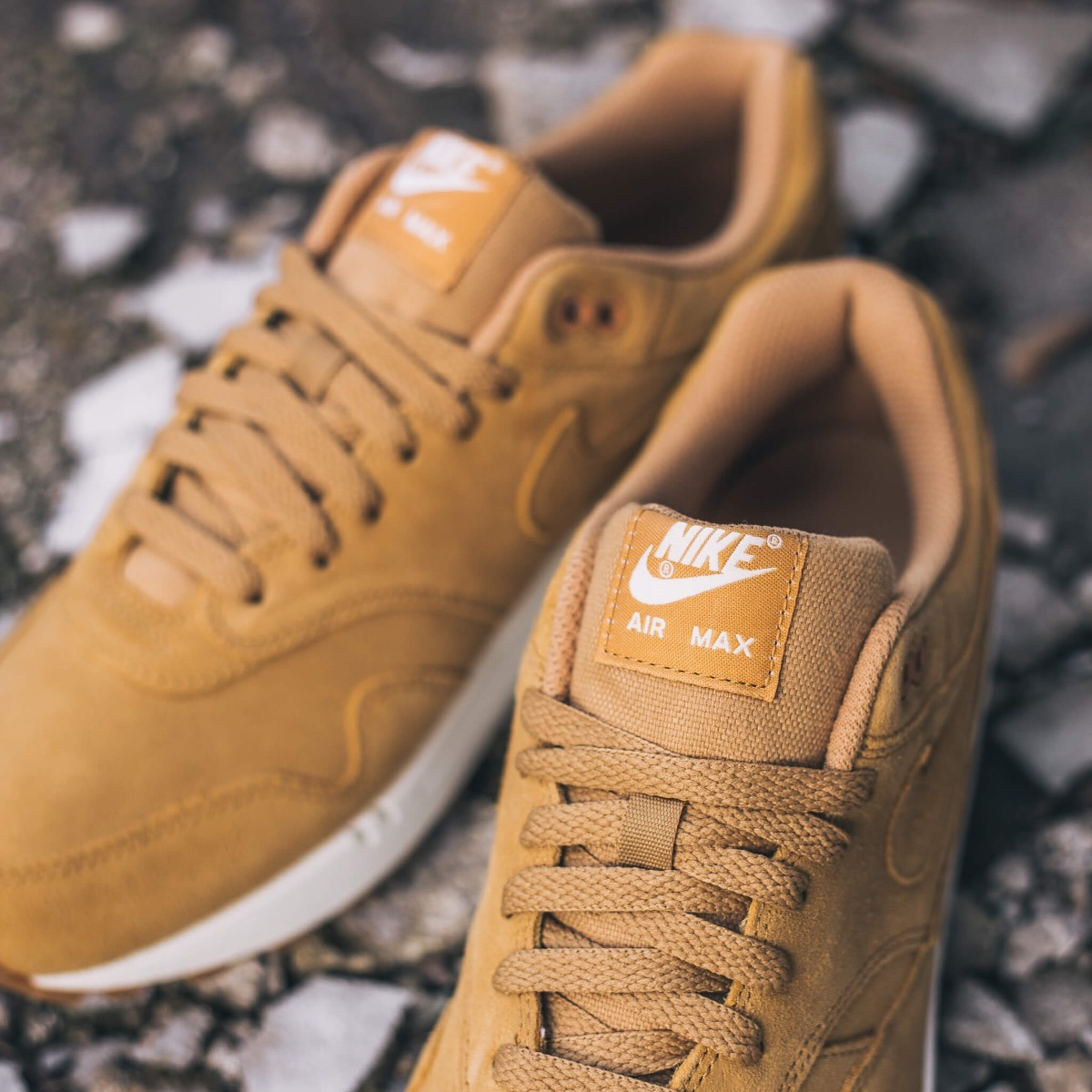 Nike Air Max 1 Premium Flax Sail Gum Medium Brown Hombre