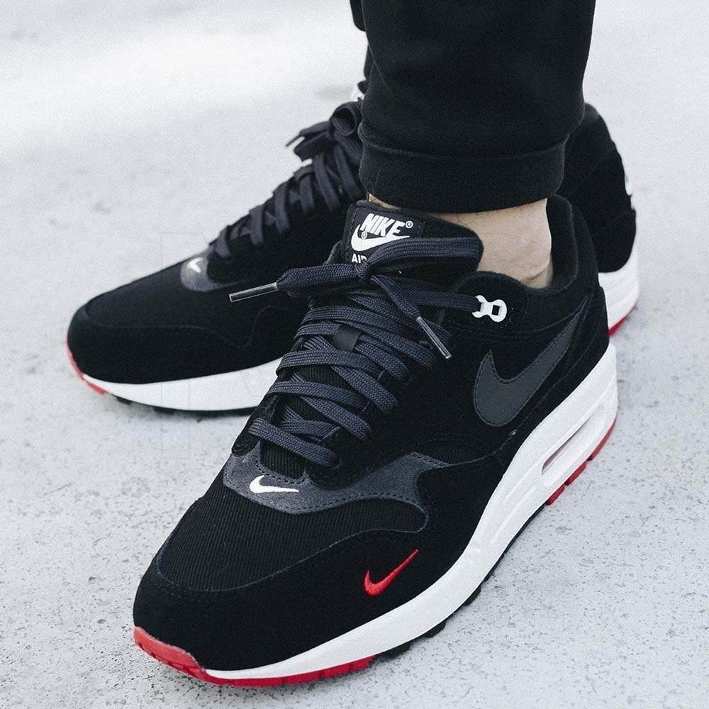 cbcacf4d85da nike air max 1 prm black oil grey university red - hombre. Cargando zoom.