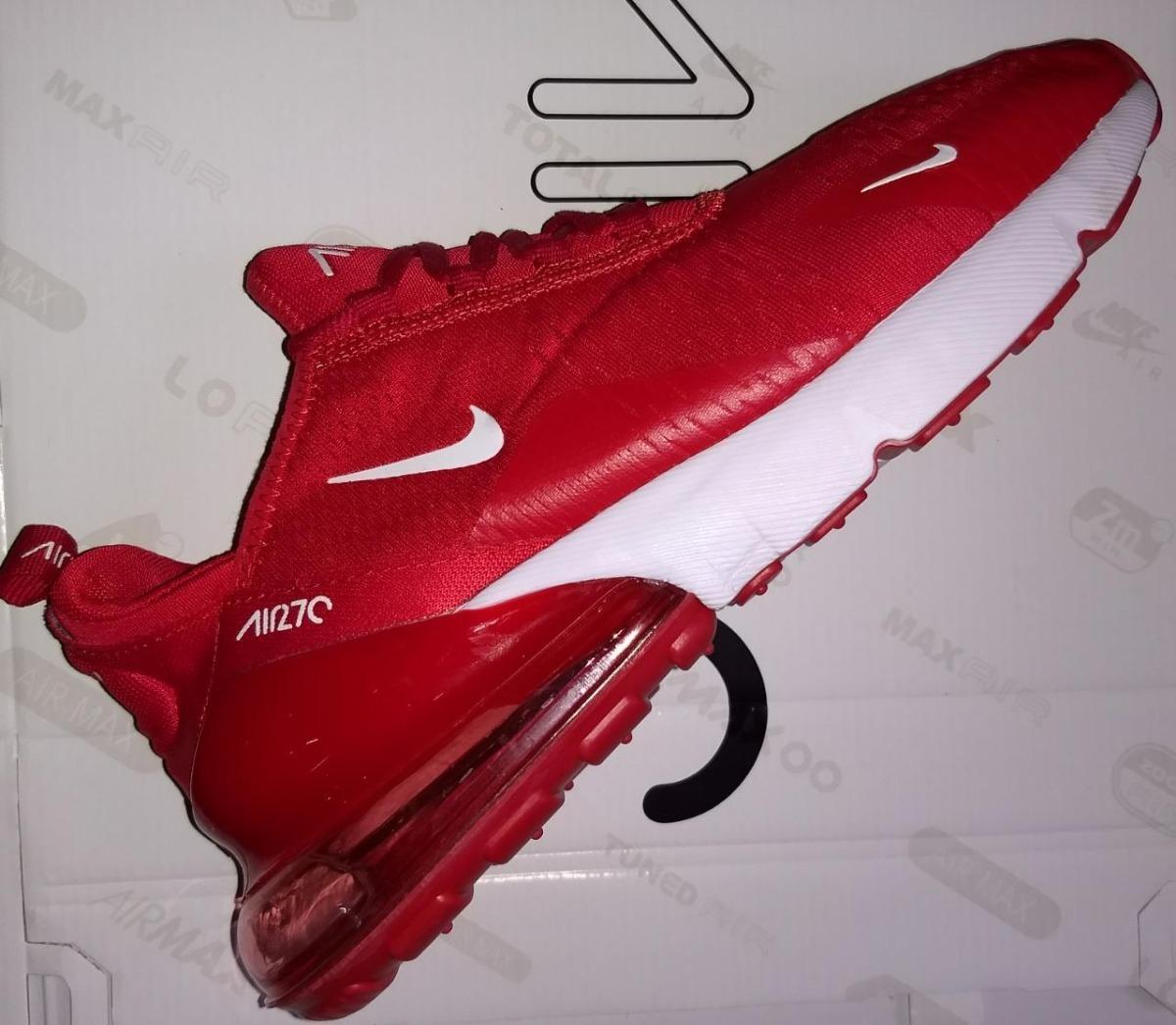 Nike Air Max 270 Red & White Caballero Con Envío Gratis!