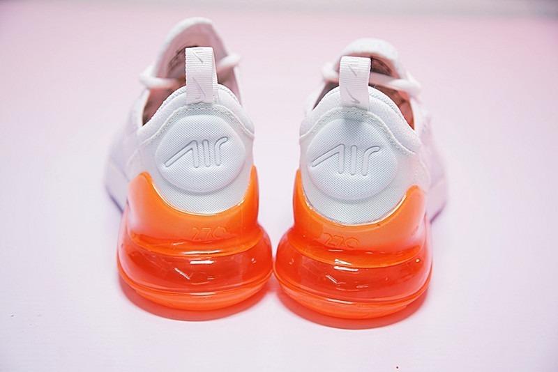 Nike Air Max 270 White & Orange Caballero Envio Gratis !!!