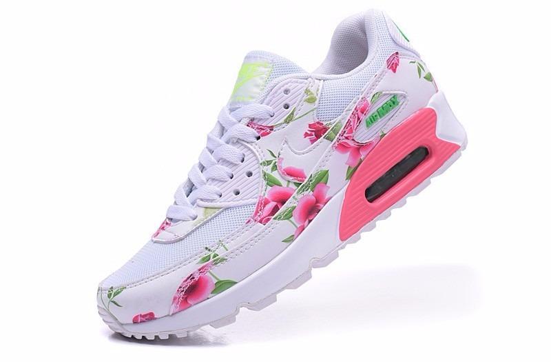 75452502fea 540a1 54858  spain nike air max 90 blanca con flores. cargando zoom. 9d2b2  2c8f9
