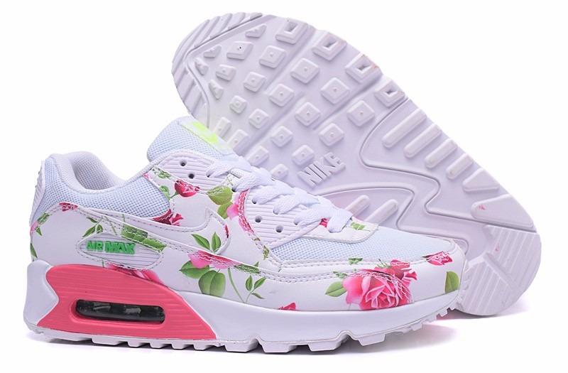 3366ac224e1da nike air max 90 blanca con flores. Cargando zoom.
