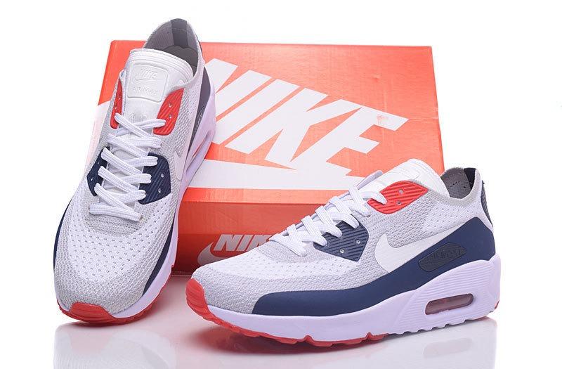 ec6fef2e Nike Air Max 90 Fliknit Blanco Azul Naranja Originales! - $ 3.199,00 ...