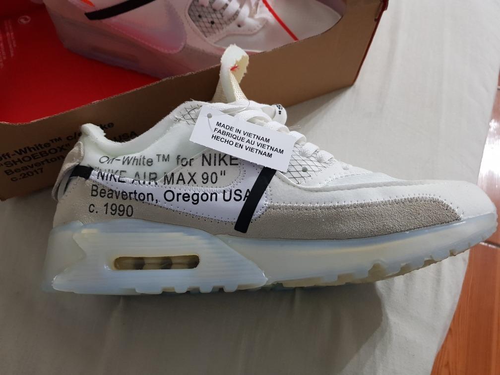 sale retailer 9a9fc 783a6 ... good nike air max 90 off white nuevas en caja talla 43 originales.  cargando zoom