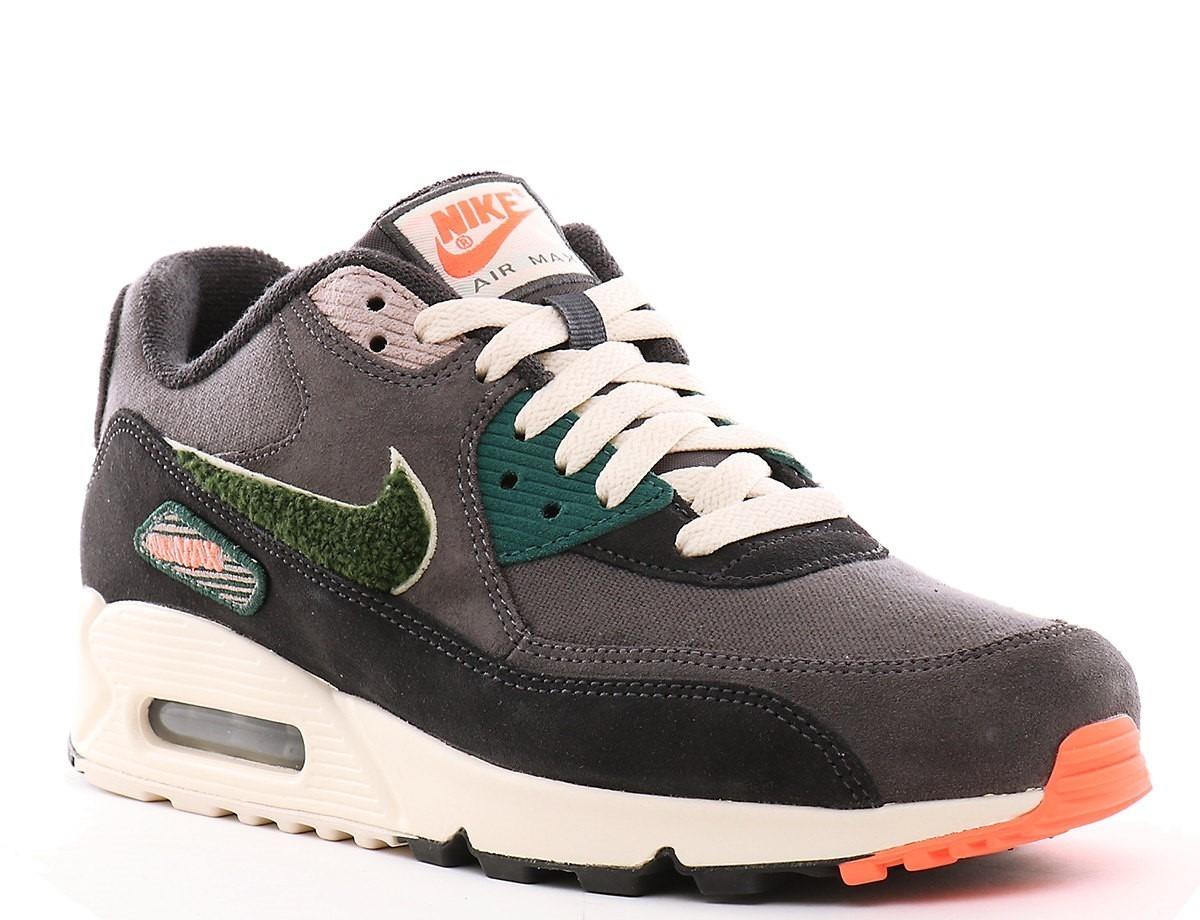 c4b129f732 Nike Air Max 90 Premium Se Oil Grey Rainforest- Hombre - $ 5.799,00 ...