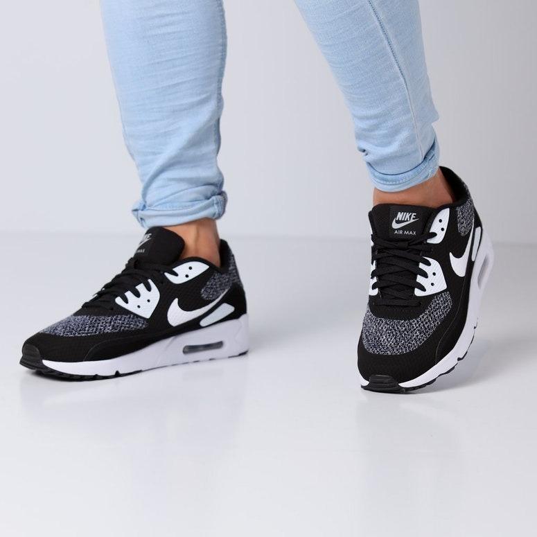 Nike Air Max 90 Mid No Sew Black, Dark Charcoal, and White
