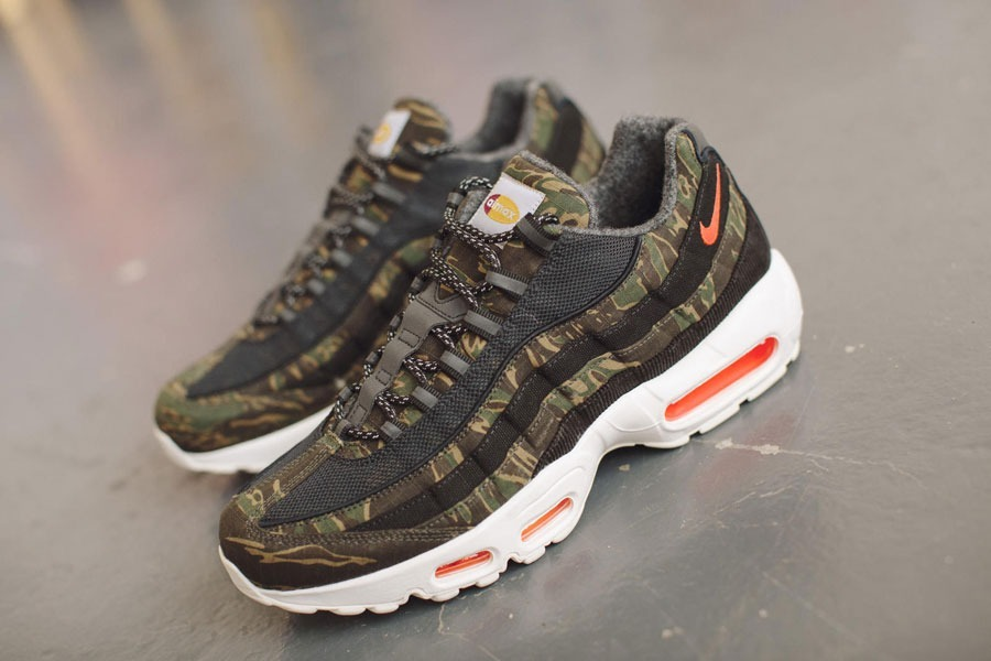 new concept 3e14d ae231 Nike Air Max 95 X Carhartt Wip Tiger Camo Sneakers