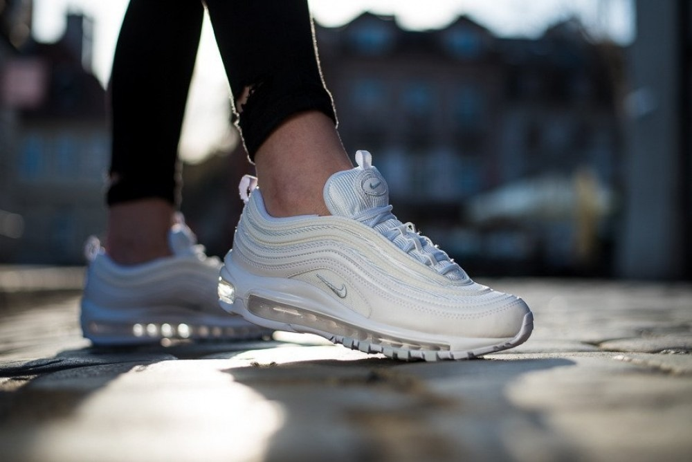 Nike Air Max 97 Triple White Mujer 100 % Originales Cod 0210