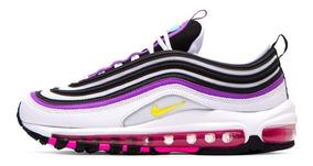 Nike Air Max 97 White Purple Mujer 100 % Originales Cod 0100