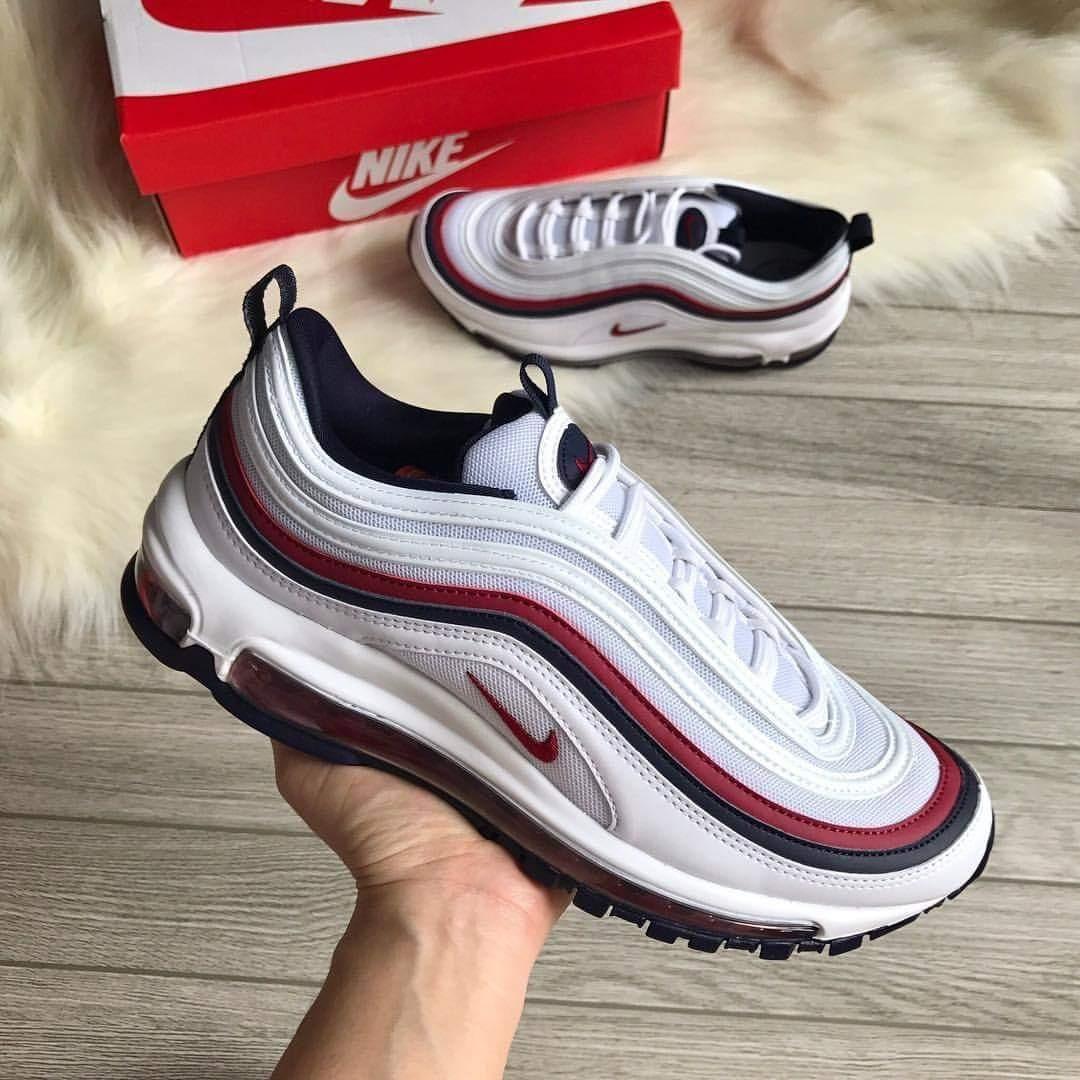 Nike Air Max 97 White Red Baby Blue Caballero Envío Gratis