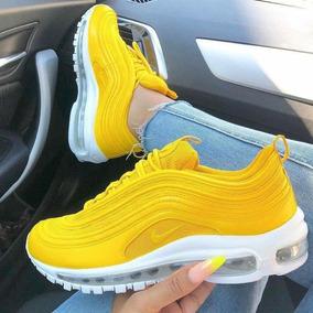 Nike Air Max 97 Yellow And White Dama Envío Gratis
