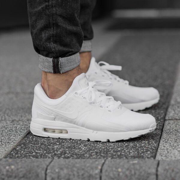 on sale 9704f 1f3c5 Nike Air Max Zero Essential All White Blanco- Hombre