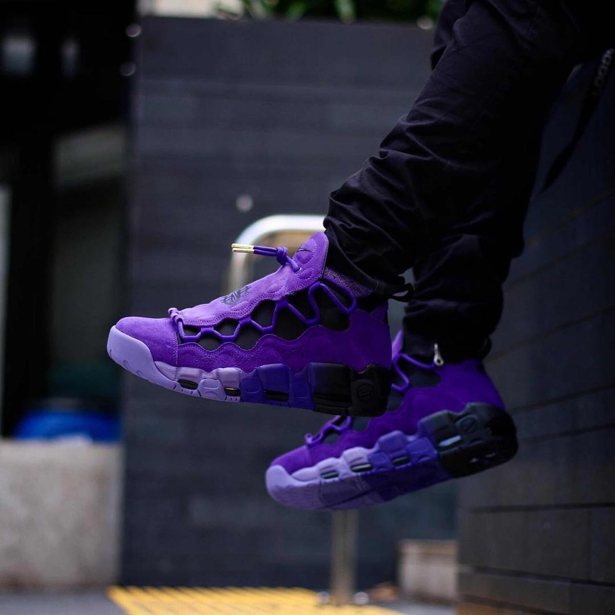 45a3ce520 nike air more money qs court purple originales envío gratis. Cargando zoom.